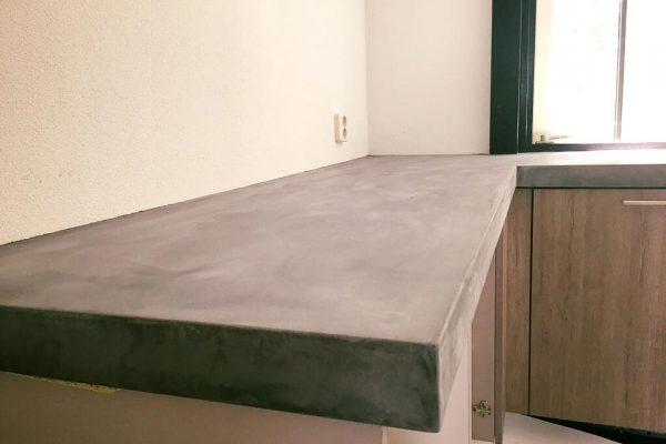 Aanrechtblad in beton ciré