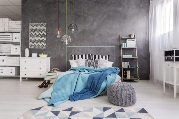 Beton cire slaapkamer